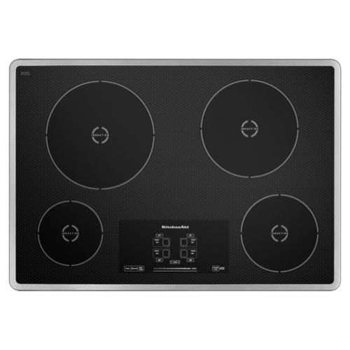"30"" Induction Cooktop with 4 Elements and Touch-Activated Controls - Stainless Steel"