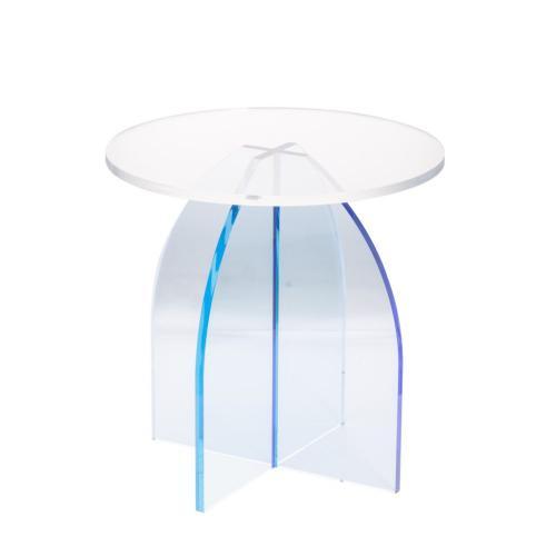 A & B Home - Callie Side Table, Blue