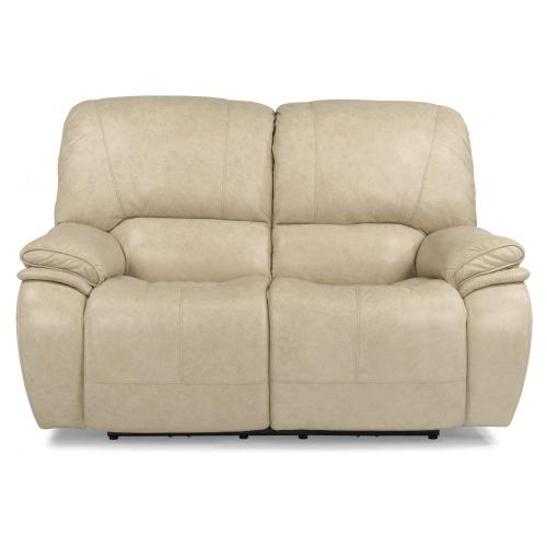 Product Image - Tobin Leather Power Reclining Loveseat with Power Headrests