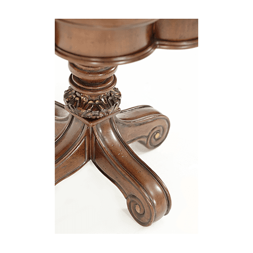 Victoria Palace Chair Side Table Light Espresso