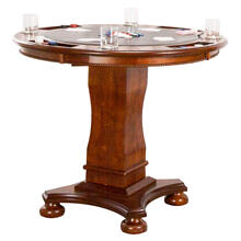 """See Details - Bellagio Counter Height Dining, Chess and Poker Table 42"""""""