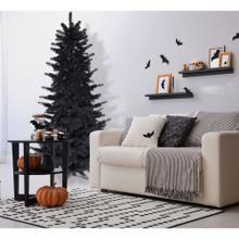 Fraser Hill Farm 7-Ft. Spooky Black Tinsel Tree, No Lights, HH070TINTREE-0BLK