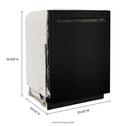 KitchenAid - 39 dBA Dishwasher with Third Level Utensil Rack - Black