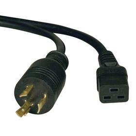 Power Cord, C19 to NEMA L6-20 - Heavy Duty, 20A, 250V, 12 AWG, 6 ft., Black