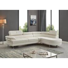 See Details - WHITE SECTIONAL CHAISE
