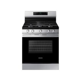 6.0 cu. ft. Smart Freestanding Gas Range with Integrated Griddle in Stainless Steel