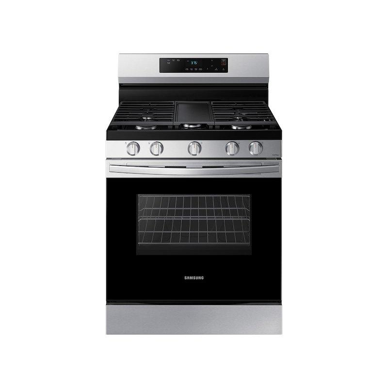 Samsung 6.0 cu. ft. Smart Freestanding Gas Range with Integrated Griddle in Stainless Steel