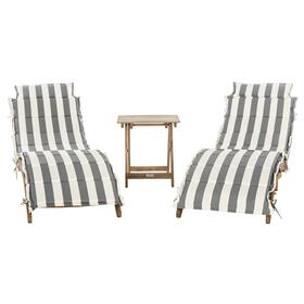 Pacifica 3 Piece Lounge Set - Natural / Grey / White