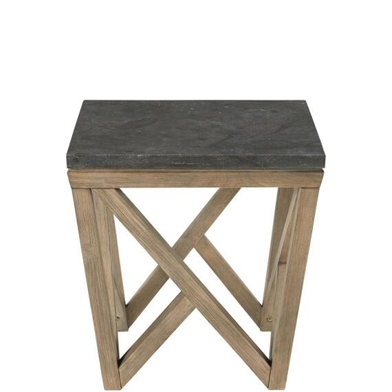 Riverside - Hawkins - Square Side Table - Antique Oak/bluestone Finish