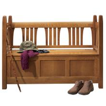 Wood Seat Gus Storage Settle