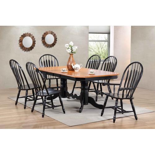 Comfort Dining Arm Chair - Antique Black