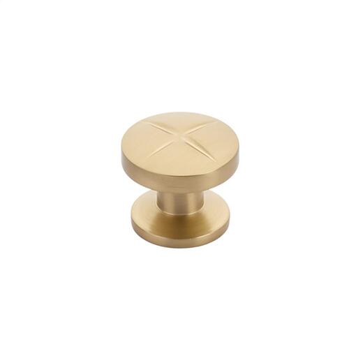 "Northport, Round Knob, 1-3/8"" diameter, Signature Satin Brass finish"
