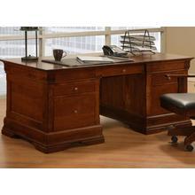 Phillipe 36x72 Desk with 2 File Dwrs & Pencil Dwr/Keyboard Tray