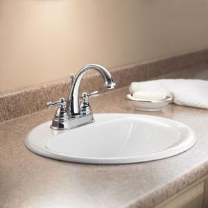 Kingsley chrome two-handle bathroom faucet