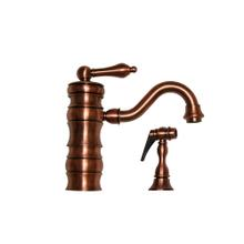 Vintage III single-lever entertainment/prep faucet with a traditional swivel spout and a solid brass side spray.