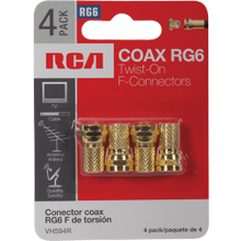 Twist F Connectors RG6 - 4 Pack