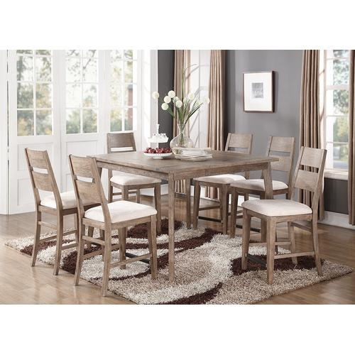 Emerald Home Viewpoint Gathering Dining Table Kit Driftwood D977-13-k