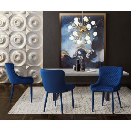 Tov Furniture - Draco Navy Velvet Chair
