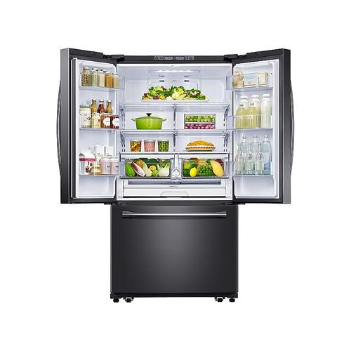 Samsung - 26 cu. ft. French Door Refrigerator with Filtered Ice Maker in Black Stainless Steel