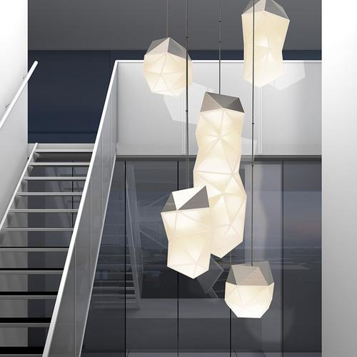 Sonneman - A Way of Light - Facets LED Pendant [Size=3-Light Small, Color/Finish=Satin Nickel]
