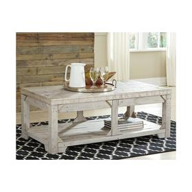 Fregine Lift Top Cocktail Table Whitewash