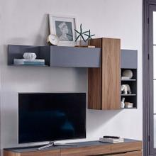 Scope Wall Mounted Shelves in Walnut Gray