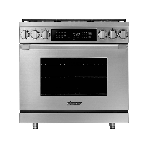 "36"" Dual Fuel Pro Range, Silver Stainless Steel, Natural Gas"