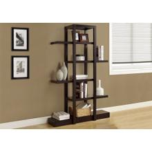 "BOOKCASE - 71""H / ESPRESSO OPEN CONCEPT DISPLAY ETAGERE"