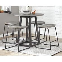 Round Counter Table and 4 Stools