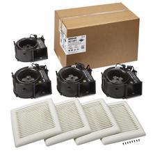 FLEX Series Bathroom Ventilation Fan Finish Pack 50 CFM 0.5 Sones ENERGY STAR Certified