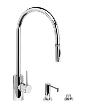 Contemporary Extended Reach PLP Pulldown Faucet 3pc. Suite - 5300-3 - Waterstone Luxury Kitchen Faucets Product Image