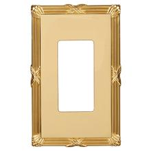 Ribbon & Reed Wall Plate - Polished Brass