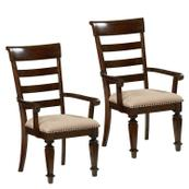 Charleston 2-Pack Upholstered Arm Chairs, Brown