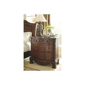 North Shore Three Drawer Night Stand Dark Brown