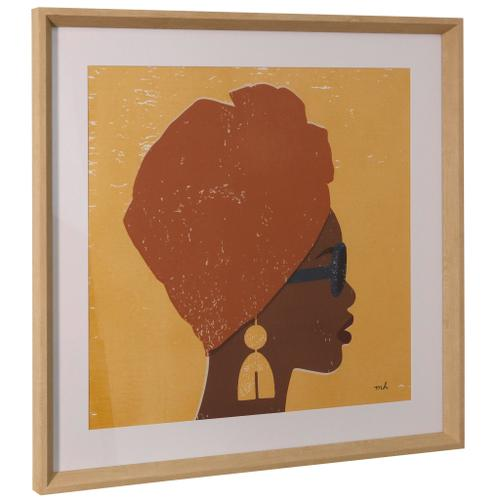 Style Craft - KENYA COUTURE I  26in ht X 26in w  Framed Print Under Glass