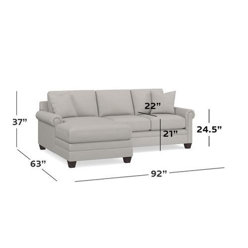 Bassett Furniture - Carolina Panel Arm L Chaise Sectional