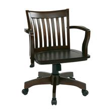 View Product - Deluxe Wood Bankers Desk Chair