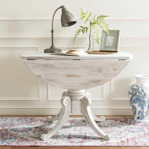 Forest Drop Leaf Dining Table - Antique White