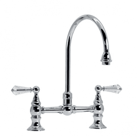 Highlands - Hi-Rise Exposed Gooseneck Kitchen Faucet - Aged Brass