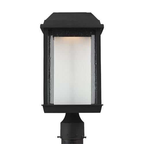 McHenry LED Post Lantern Textured Black Bulbs Inc