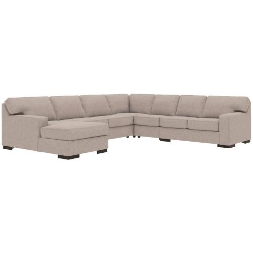 Product Image - Ashlor Nuvella® 5-piece Sleeper Sectional With Chaise