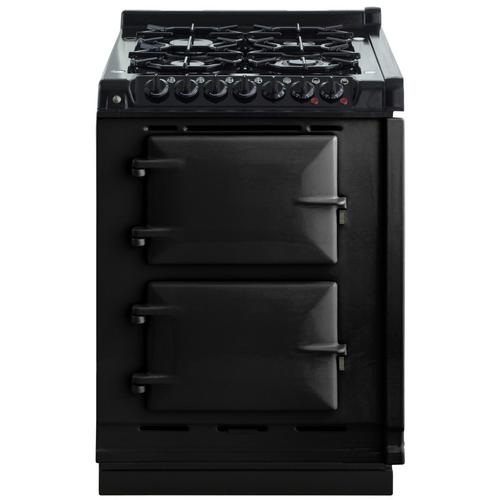 "AGA Module 24"" Electric/Natural Gas Black with Stainless Steel trim"