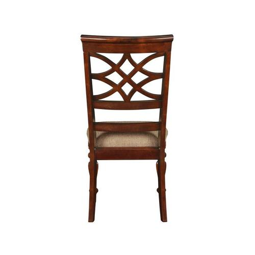 Gallery - Woodmont 2-Pack Side Chairs with Upholstered Seat, Brown Cherry