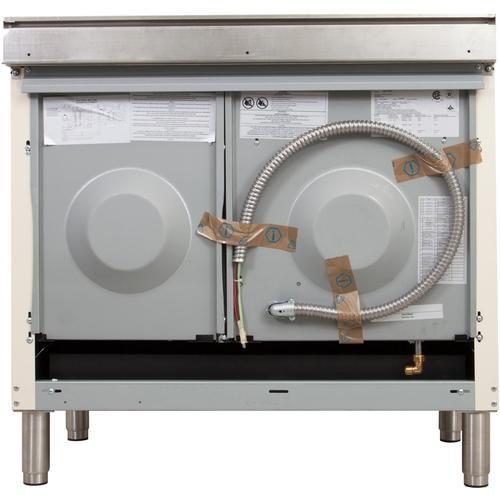 40 Inch White Dual Fuel Liquid Propane Freestanding Range