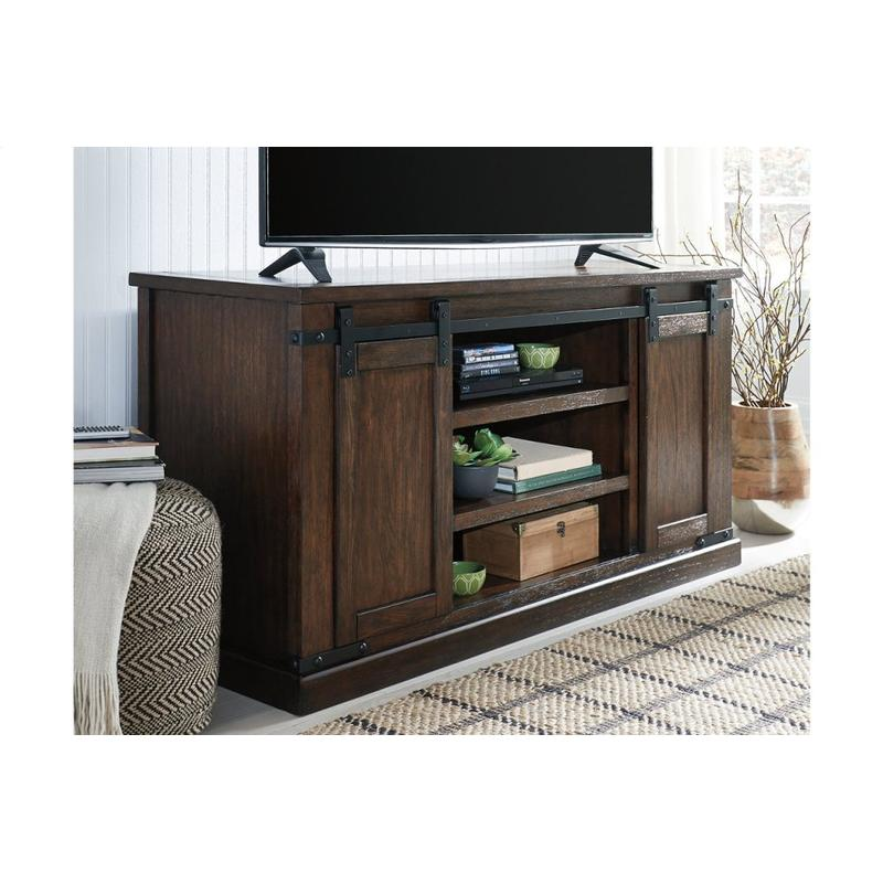 View Product - Budmore Rustic Brown Large TV Stand