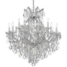 Maria Theresa 19 Light Swarovski Strass Crystal Chrome Chandelier