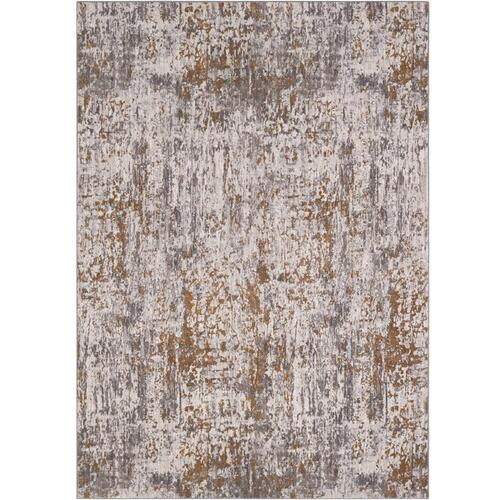 "Enigma Metamorphic Brushed Gold 2' 4""x7' 10"" Runner"