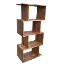 "48"" Wooden 4-tier Bookcase, Brown"