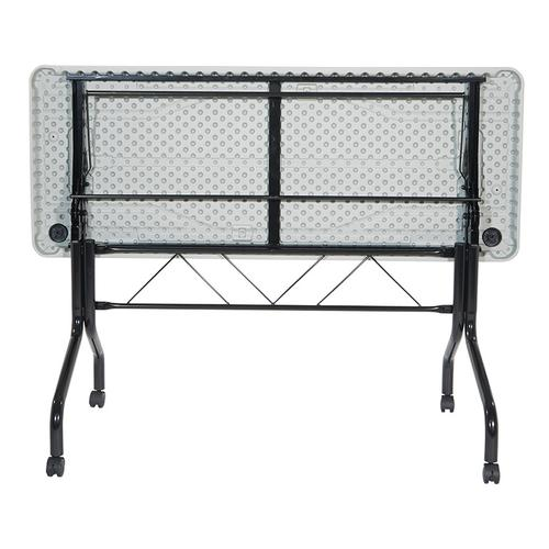 5' Resin Multi Purpose Flip Table With Locking Casters