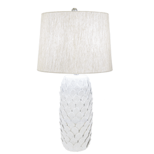 Ivory Embossed Layered Leaf Table Lamp. 150W Max. 3 Way Switch.